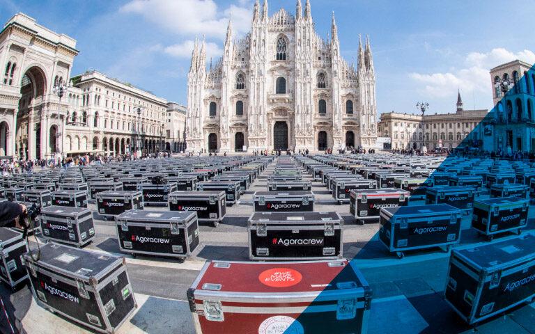 Bauli in piazza a Milano